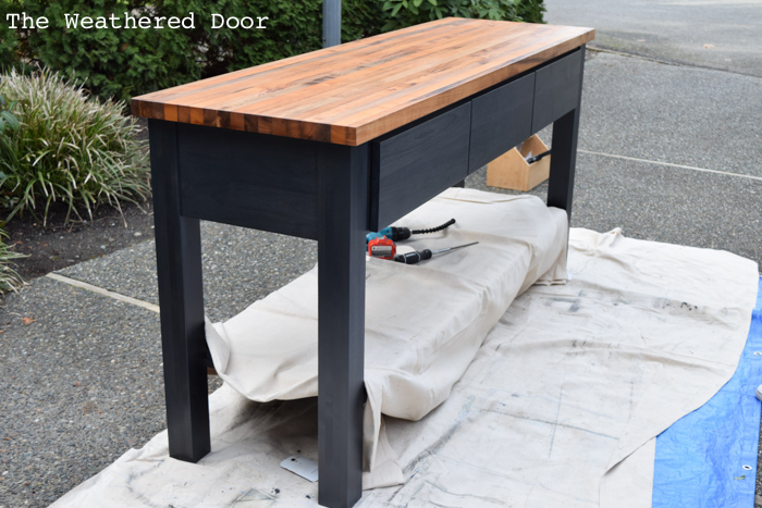 Woodworking Alder Custom Kitchen Island