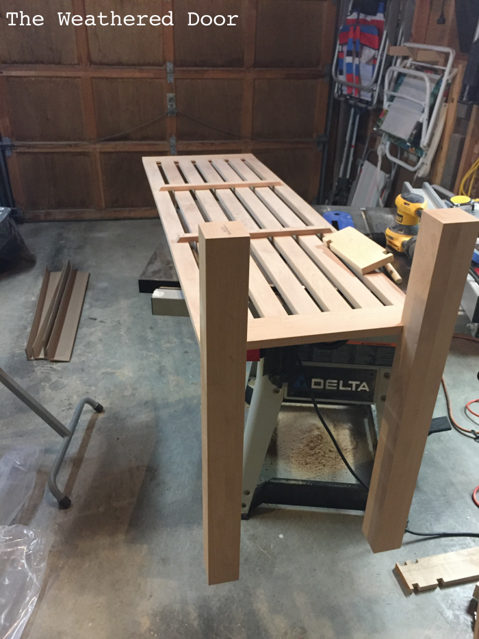 Woodworking Alder Kitchen Island progress WD-11