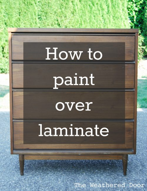 How to Paint over Laminate and why I love furniture with