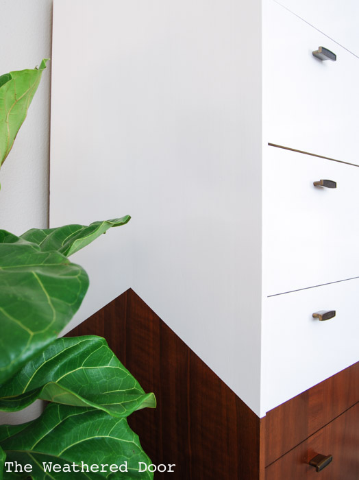 mid century dresser with angled sides | from The Weathered Door wd-1