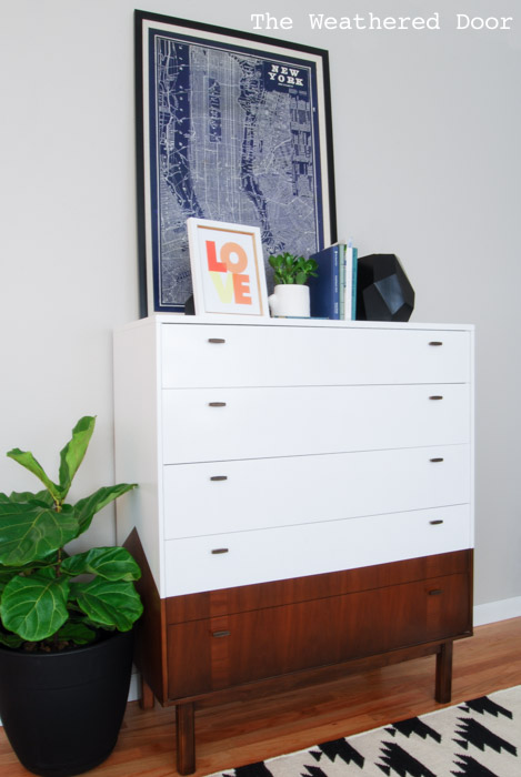 mid century dresser with angled sides | from The Weathered Door wd-3