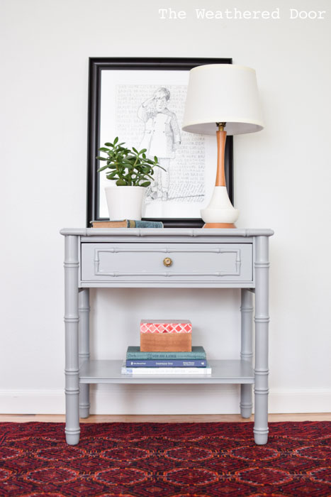 stone gray bamboo nighstand from The Weathered Door wd-1
