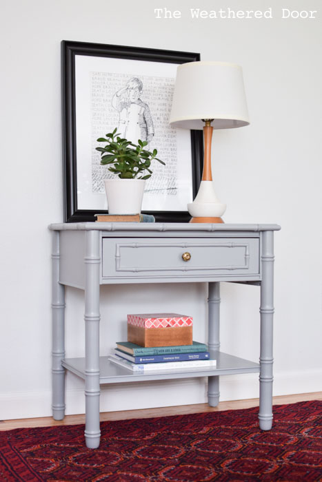 stone gray bamboo nighstand from The Weathered Door wd-2