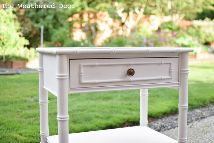 stone gray bamboo nighstand progress from The Weathered Door wd-2